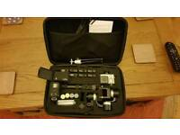 Gopro Hero 4 Black with 3 axis gimbal and accessories
