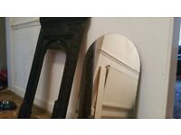 Metal fire surround and mirror