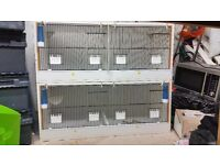 2 double breeding cages with extras