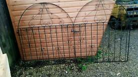 Pair Wrought iron drive gates