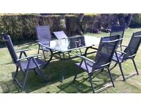 garden furniture - 6 chairs and table