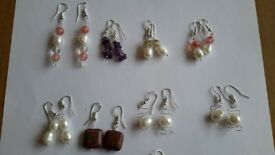 Brand new handmade Gemstone Earings for sale £6 each including postage OR £5 each if collected.