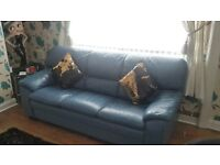 👉3+2 italian blue leather sofa👈