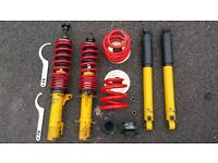 SPAX full adjustable front & rear suspension shocks & springs for mk4 Golf 4x4 and kin