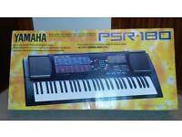 Electronic Keyboard Yamaha PORTATONE PSR180 in good condition with power lead. 61 Keys