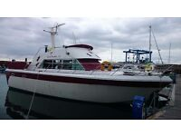 POWLES 41 CLASSIC GRP MOTOR CRUISER, 2 X PERKINS DIESEL, EXCELLENT FOR LIVEABOARD £23500