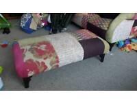 dfs patchwork footstool