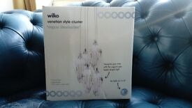 Wilko Venetian Style Cluster Light Lighting As Seen In Photos Free Bulbs Included As New