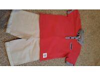 Boys Junior J Shorts and Tshirt set