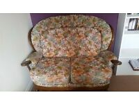 Two seater armchair and footstool for sale - FREE