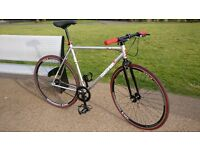 Redemption fixie bike silver/black edition