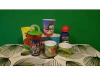 Various children's cups