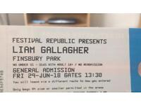 3X Liam Gallagher Finsbury Tickets Face Value.
