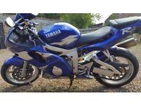 Yamaha YZF R6 5EB 1999 1 years MOT, great bike.