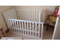 Nearly New Next Cot Bed with Mattress and bedding