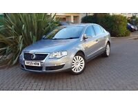 2009 VW PASSAT 2.0 TDI CR HIGHLINE SALOON, FULL LEATHER, EX CONDITION.