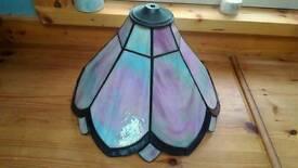 Handmade beautiful stained glass lampshade.