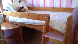 Girls purple mid sleeper bed
