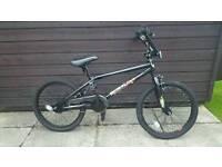 Boys black bike