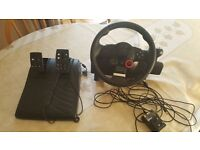 Driving Force GT Steering Wheel & Pedals Playstation