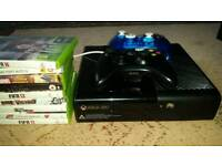 Xbox 360, 2 controllers, 9 games