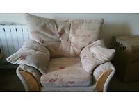 Beige Second Hand Single Sofa.