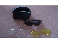 Sports Sun Glasses Interchangeable Lens Set with case