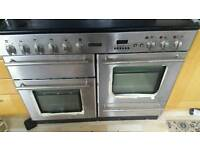 Electric range cooker 8 ring and extractor hood
