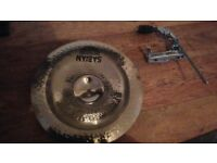 sabian aax china 17 inch plus tama clamp on arm stand both mint condition