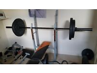 Bench and weighs