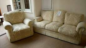 3 seater and arm chair