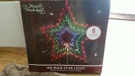 Chasing Star Christmas Light 100 Bulb As New