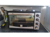 Andrew James 33L Mini Oven and Grill with Two Hobs