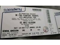 2 tickets for UK FOO FIGHTERS gig on saturday 14th october