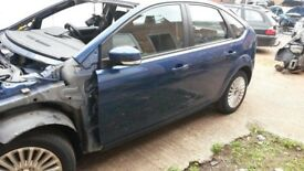 BREAKING FORD FOCUS MK3 OCEAN BLUE 2008 5DR MOST PARTS AVAILABLE 72k 1.6 PETROL
