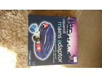 Aqua roll mains adapter in box only used 1 week with 7.5 meters of hose