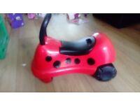 Mothercare / ELC easy wheels ride on ladybird