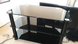 Black Glass TV Stand for TVs up to 43inch (80cm wide)