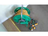 Hozelock 25m hosepipe and reel with accessories