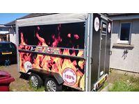 Catering trailer, food van, mobile kitchen, snack bar