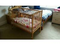 Wooden cot in very good condition