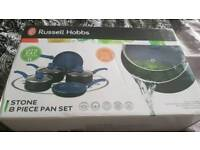 Russell hobbs pan set stone blue