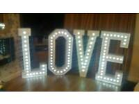 Wedding package, chair covers, sashes, centrpieces, love letters