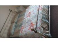 King size metal frame bed + king size mattress