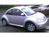 VW BEETLE 2L PETROL 2000 SILVER £795