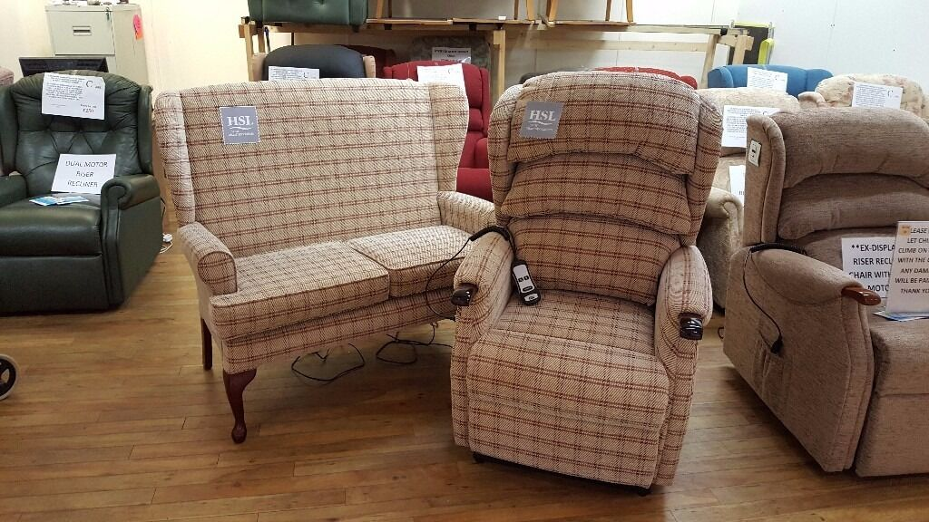 Ex Display Hsl Linton Riser Recliner Chair Amp Matching