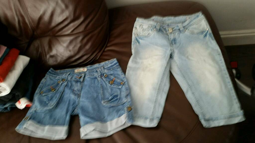 2 × jeans shorts size 8