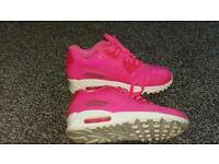 LOOK!!!! Pink Leather Air Max 90