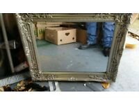 beautiful silver carved mirror as new cost £25 from the range sell £10