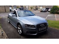 2009 (59) Audi A5 Convertible Cabriolet 2.0 TFSI S line (211 bhp) 12 months MOT! Reduced to £8500!